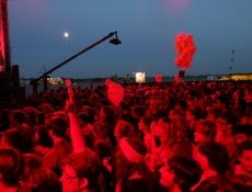 ein rotes Publikum