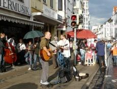 Musik auf der Straße in Bremen