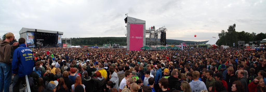 Das Festivalgelände im Panoramablick