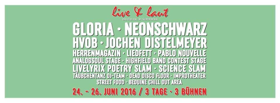 Line Up live&laut Festival