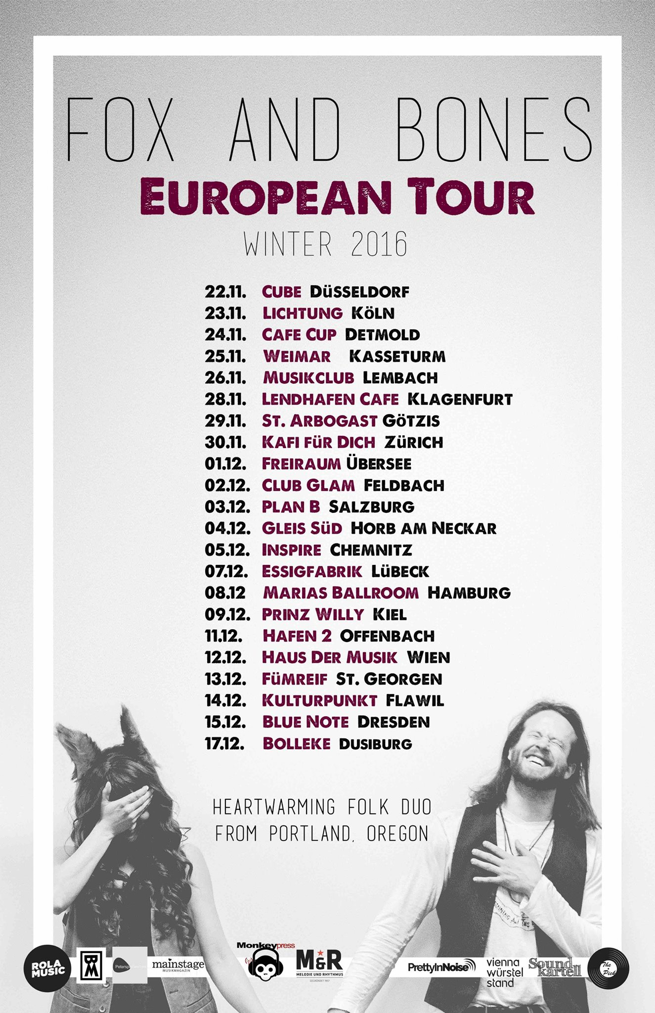Fox and Bones Europa Tour